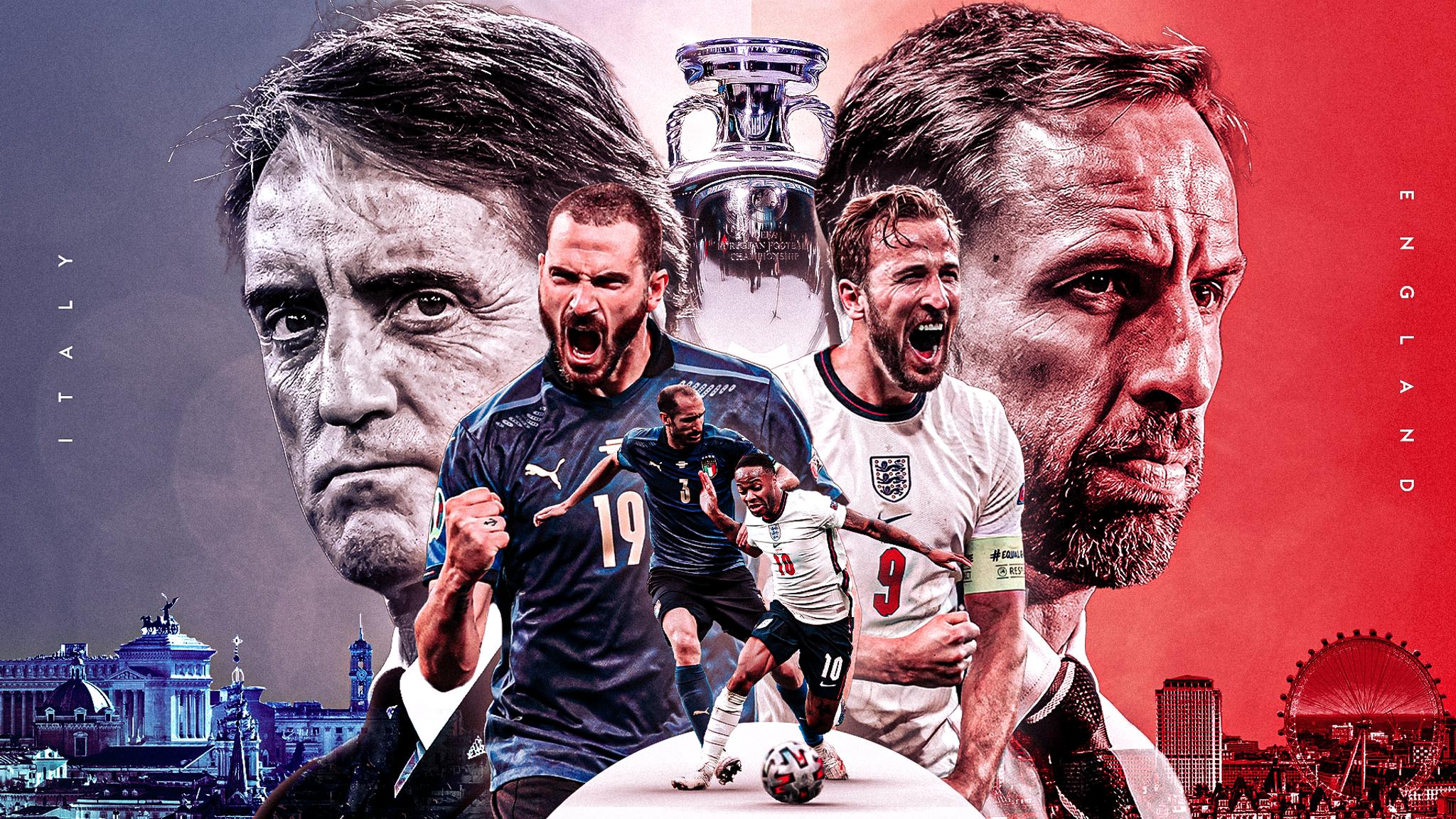 Final Euro Hari ini, Big Match Inggris vs Italia